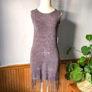 NWT Rock & Republic Fringe Sleeveless Cutout dress